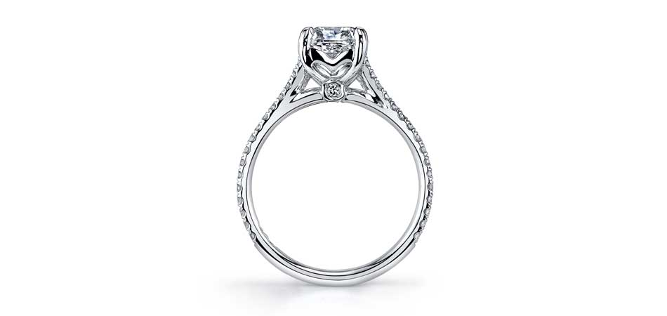 cathedral style engagement ring